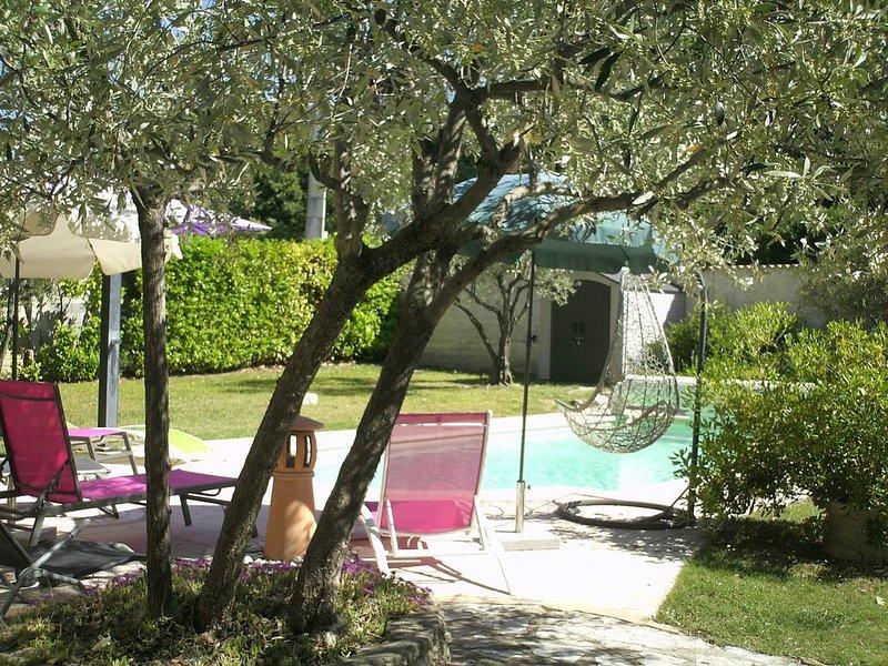 Maison Vaison-la-Romaine, piscine, jardin clos, Provence, Vaucluse, casa vacanza a Vaison-la-Romaine