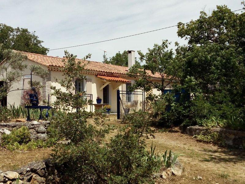 Maison de campagne 'LA CHARRUE BLEUE' dans le parc du VERDON au calme, holiday rental in La Verdiere
