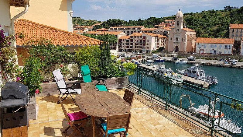 Appartement spacieux doté d'une superbe terrasse surplombant le port., holiday rental in Pyrenees-Orientales
