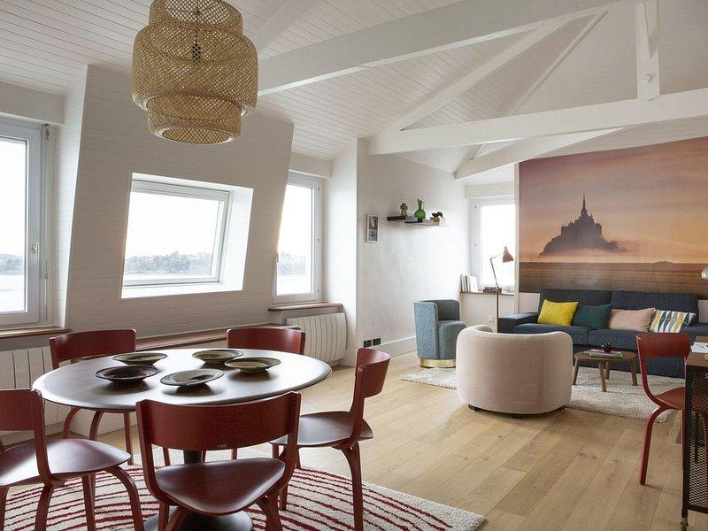 La Frégate, bel appartement avec vue sur mer à Dinard, holiday rental in Dinard