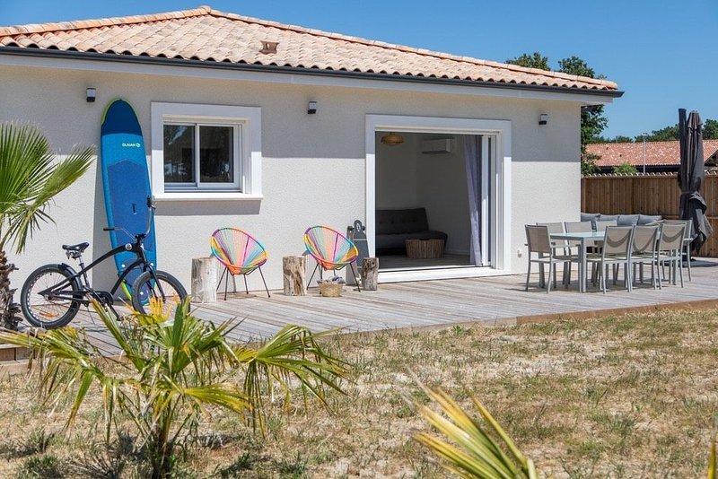 Maison neuve tout équipée au bord de l'océan et de Montalivet, alquiler de vacaciones en Montalivet