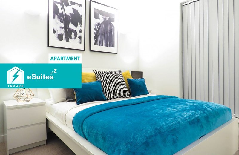 Tudors eSuites modern design one bedroom apartment in the heart of Jewellery Qua, holiday rental in Digbeth