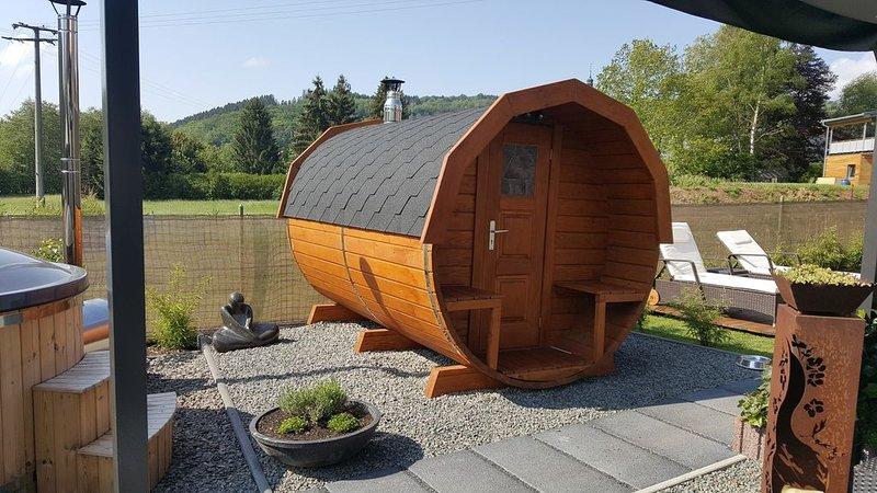 Hundefreundliche Ferienwohnung mit Sauna und Hot Tub, holiday rental in Weiskirchen