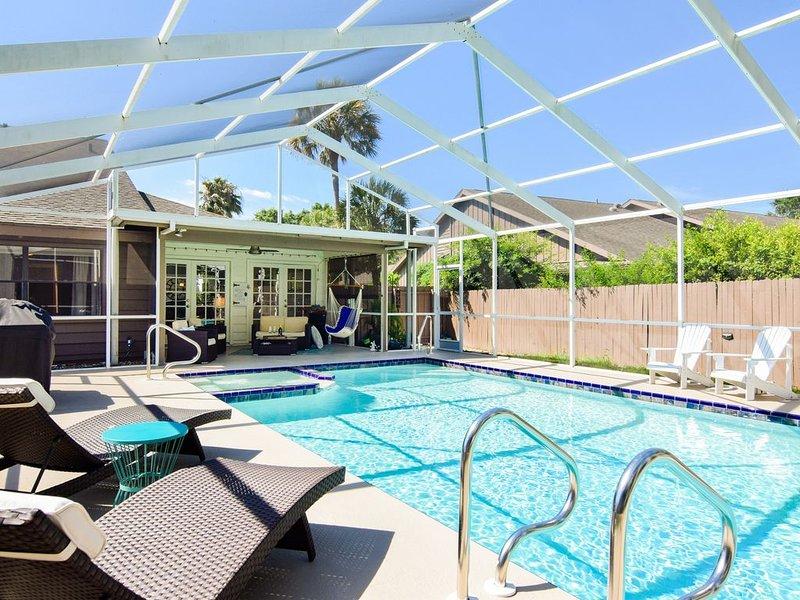 Sarasota Lrge Villa, XLrge.Prvt Htd Salt Pool/Spa UTC Mall,SiestaKey,Dining.Golf, holiday rental in Braden River