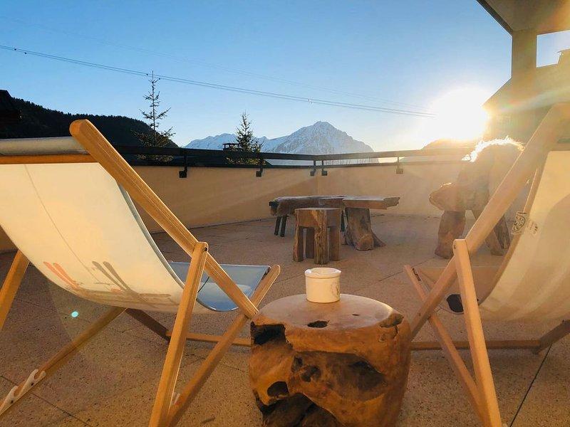 appartement terrasse, alquiler de vacaciones en Vaujany