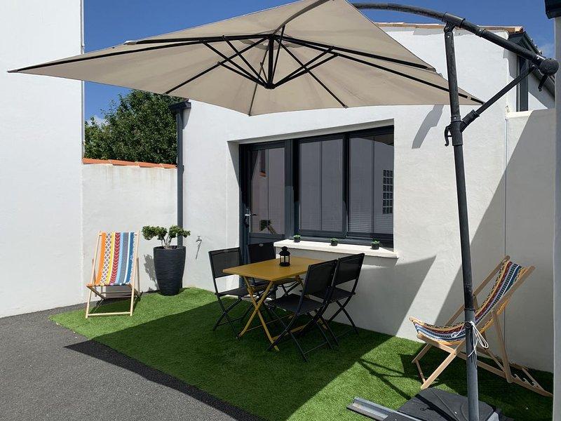 Logement neuf très bien équipé proche plages et La Rochelle, alquiler vacacional en La Jarne