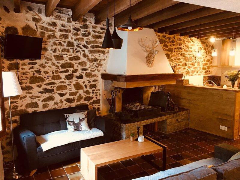 Maison montagne en pierre 85m2 avec jardin, vacation rental in Ascou