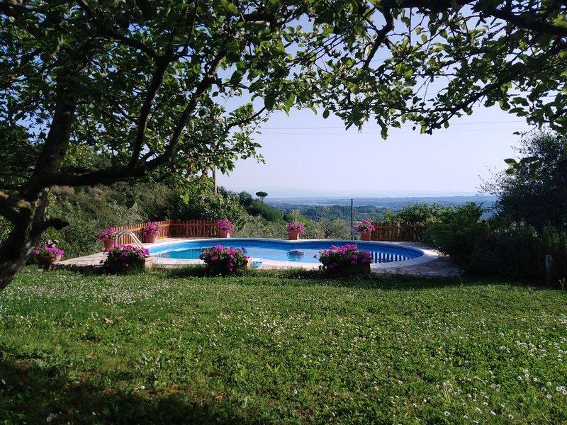 'RELAX IN COLLINA' piscina con vista sulle colline toscane, holiday rental in Casciana Alta