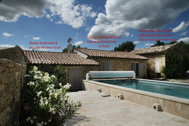 Village house, Luberon,  Provence,  pool, quiet location, walking distance shops, holiday rental in Cabrieres-d'Avignon