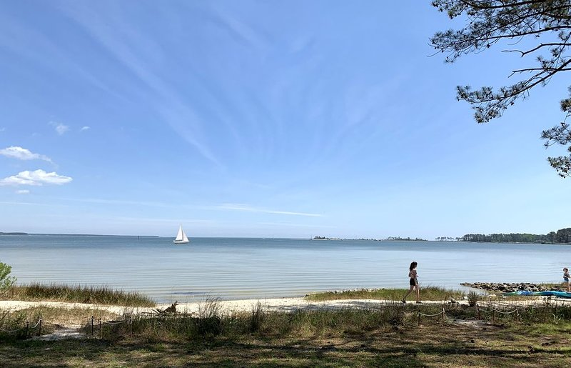 Waterfront, Private Beach, Mid Century Style, holiday rental in Wake