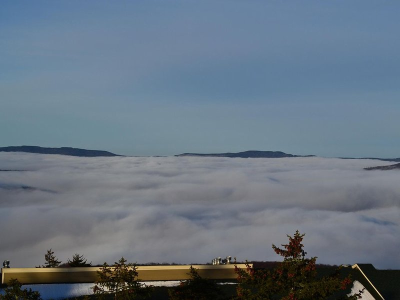 Looking down on the clouds from Snowshoe