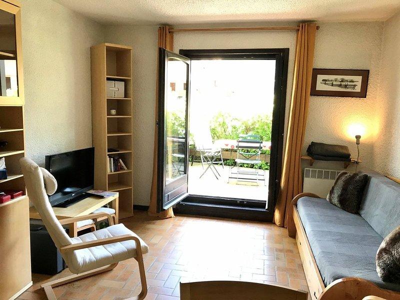 Appartement 6 personnes Rez de jardin centre Monêtier-les-Bains, alpes, location de vacances à Le Monetier-les-Bains