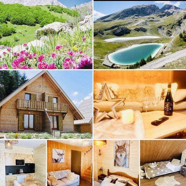 DEMI CHALET CHALEUREUX PROXIMITE DES PISTES ,WIFI, alquiler de vacaciones en Le Devoluy