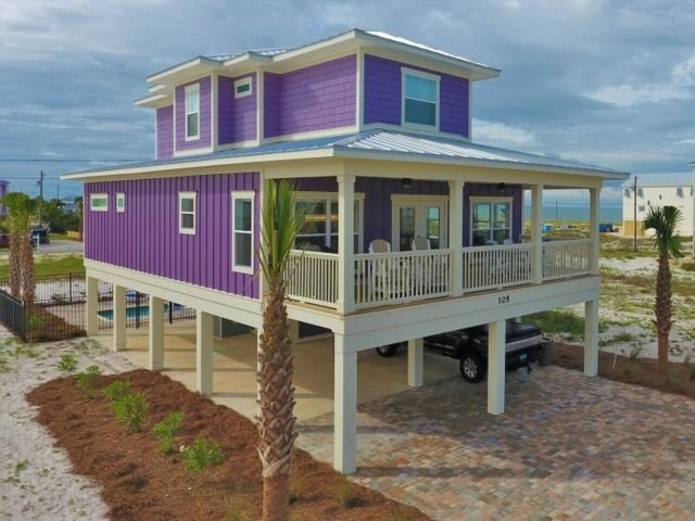 Gulf View 5BR/4.5BA house with a private heated POOL – semesterbostad i Mexico Beach