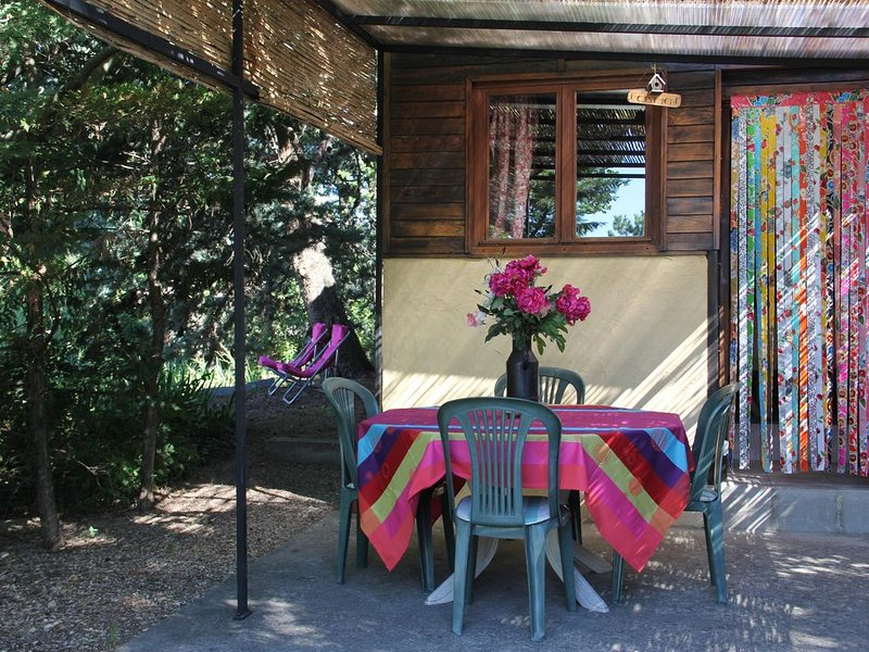 Cabanon bois, Mont Ventoux, Vaucluse, Provence, holiday rental in Modene