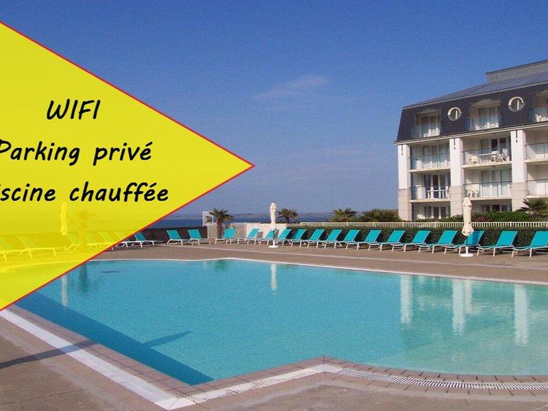 ♡Superbe appart.T2 vue mer Tréboul Douarnenez ♡3 étoiles, holiday rental in Treboul