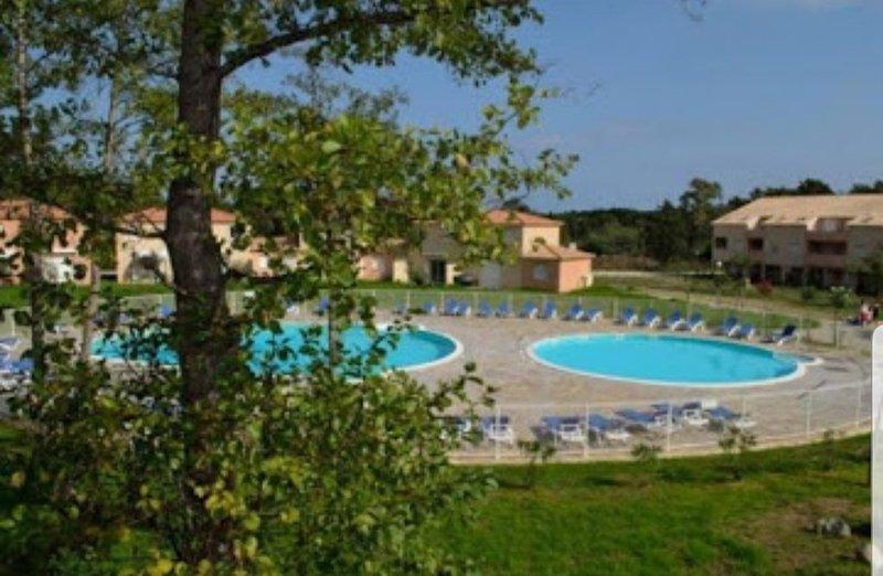Appart clim  terrasse piscine à 800 m de la plage à Santa Maria Poggio en Corse, location de vacances à Santa-Maria-Poggio