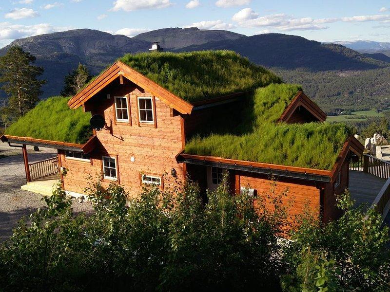 Hyggelig Blikk: ein neues Ferienhaus mit überwältigender Aussicht, alquiler de vacaciones en Kviteseid Municipality