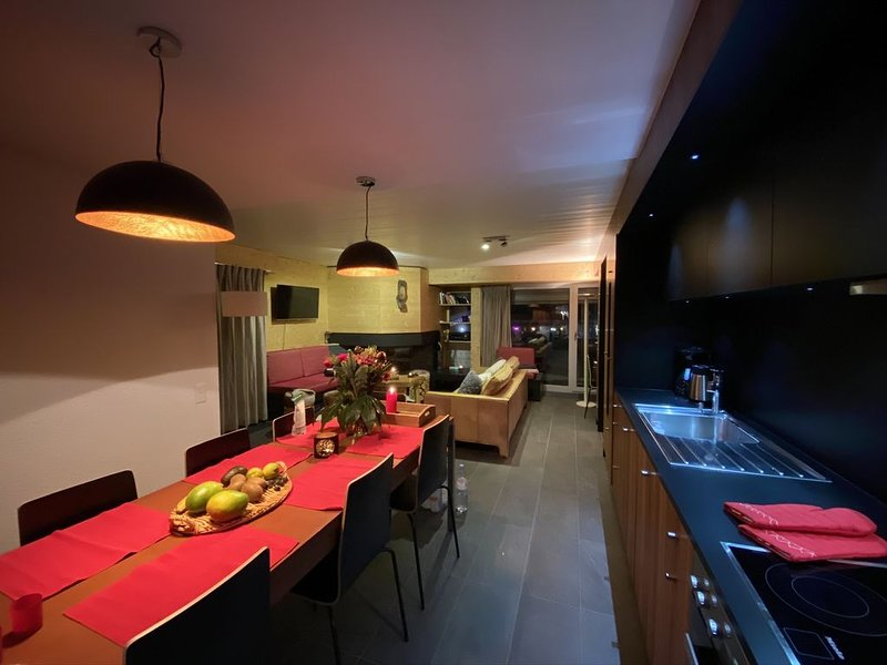 Amazing ski appartment with sauna and sun terrace in the heart of the Swiss Vala, alquiler de vacaciones en Anzère