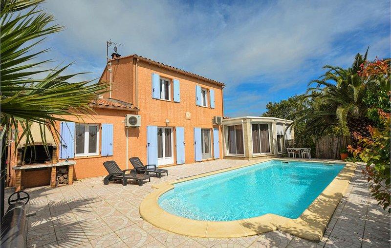 3 Zimmer Unterkunft in Montignargues, holiday rental in Sauzet