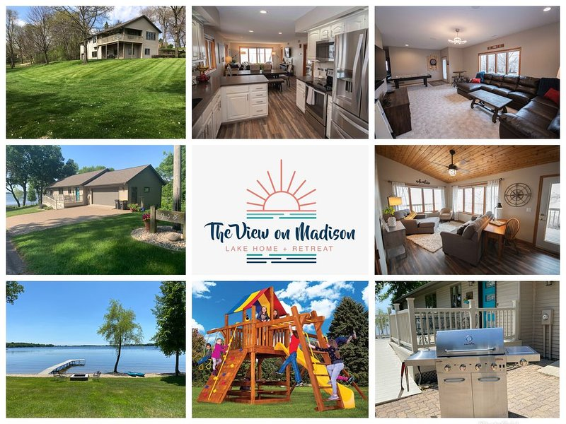 Stay at The View on Madison: Beautiful, Spacious, Lake Home on Madison Lake, alquiler de vacaciones en Mankato