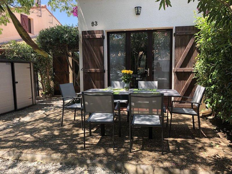 Jolie Maison *** avec piscine et 4 vélos, à 800 mètres de la plage - 4-6 pers, alquiler de vacaciones en Saint-Cyprien-Plage