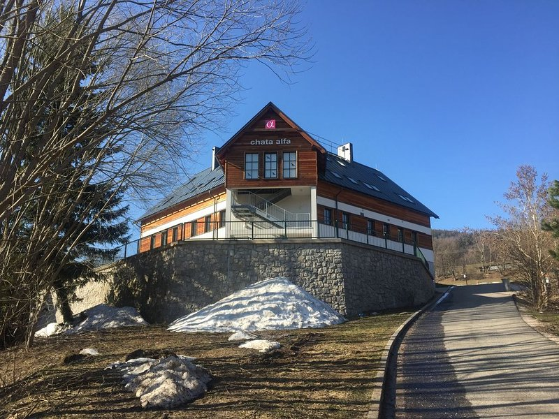 "Appartement ""Bei uns zu Hause"" [U nás doma] in der Hütte ALFA, holiday rental in Dolni Lanov"