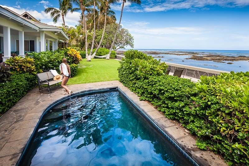 One of our favorite Puako homes, oceanfront with private pool!, vacation rental in Puako