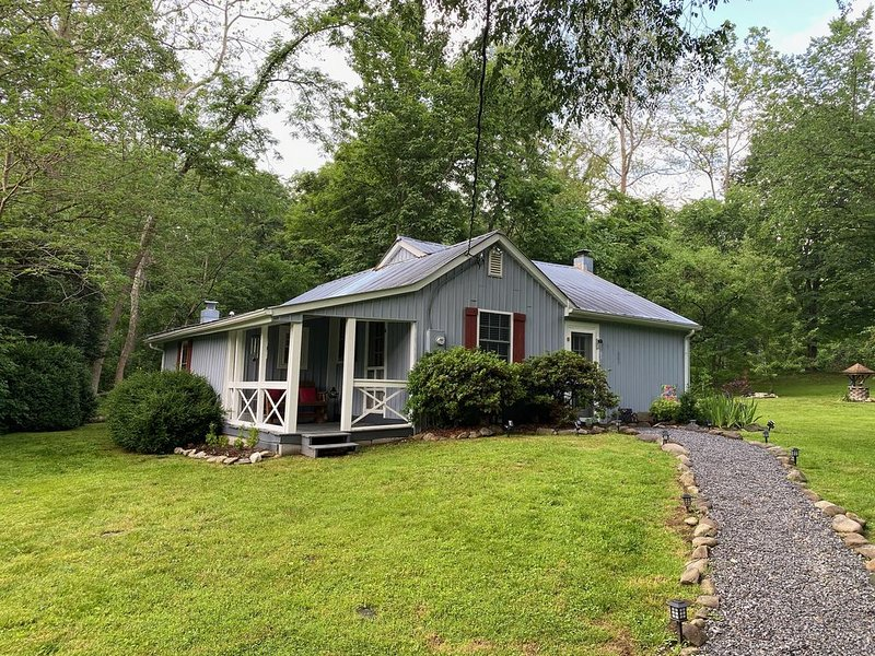 Creek Front Property! Spicewood Cabin Near Wintergreen and Crabtree Falls, alquiler vacacional en Lovingston