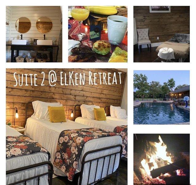 Experience East TX*ElKen Retreat:Spa,Pool,Hot tub,Massage,Breakfast,Relax Suite2, alquiler vacacional en Wills Point