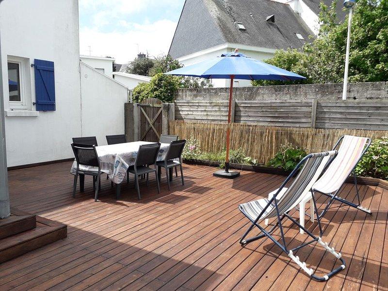 Loue maison Larmor-Plage (56) proche plage Toulhars 7 chambres 2 à 11 couchages, casa vacanza a Gavres