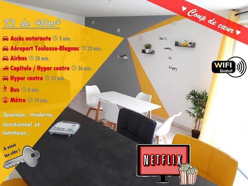 ♣ L'Eldorado Saint-Jacques au nord de Toulouse ♣, casa vacanza a Paulhac