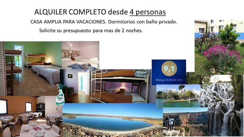 Quinta del Jalón: entre Monasterio de Piedra y Medinaceli, vacation rental in Monteagudo de las Vicarias