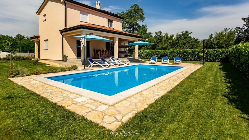 Beautiful villa with pool near the Lim Bay, holiday rental in Golas