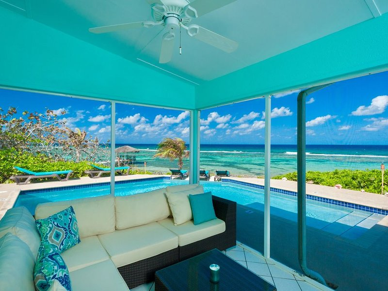 CALYPSO BLUE: Modern Beachfront Villa with Pool and Beautiful Sunsets!, vacation rental in Grand Cayman