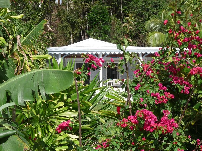 Villa créole vue mer piscine le carbet de rose, holiday rental in Cafeiere