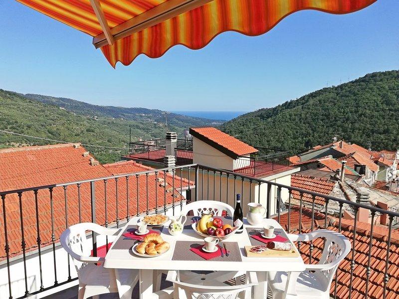 Il Pescatore: Wi-Fi, Terrazza Privata Vista Mare - Sanificazione Ozono, vakantiewoning in Villa Faraldi