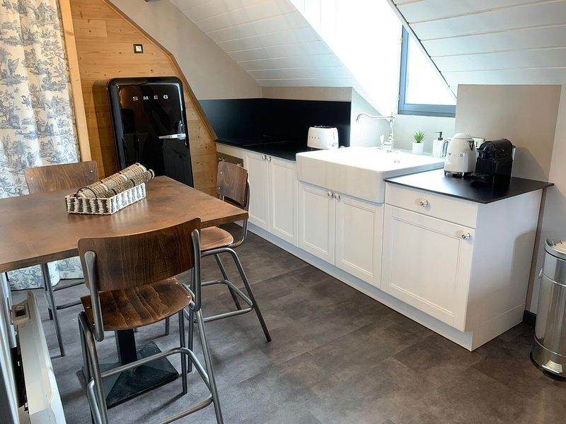 Un appartement sous les toits, location de vacances à Lepin-le-Lac