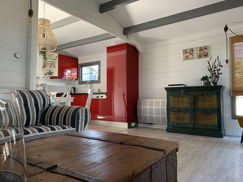 luxe strandhuisje | 5 pers. | 5 min. van het strand, location de vacances à 's-Gravenzande