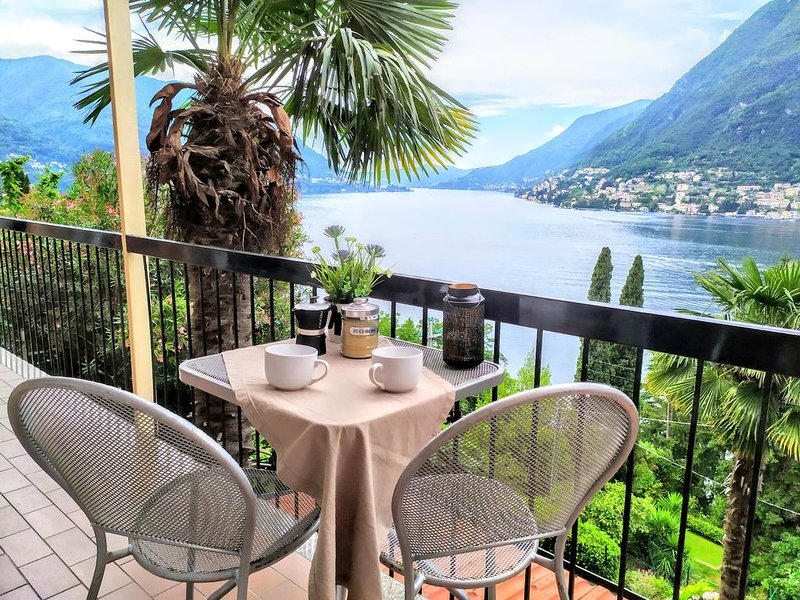 THE PALM - best view on lake Como, holiday rental in Pognana Lario