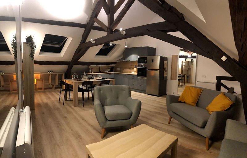 ☆ Joli appartement super-meublé refait à neuf avec jardin  Duplex, vacation rental in Palaiseau