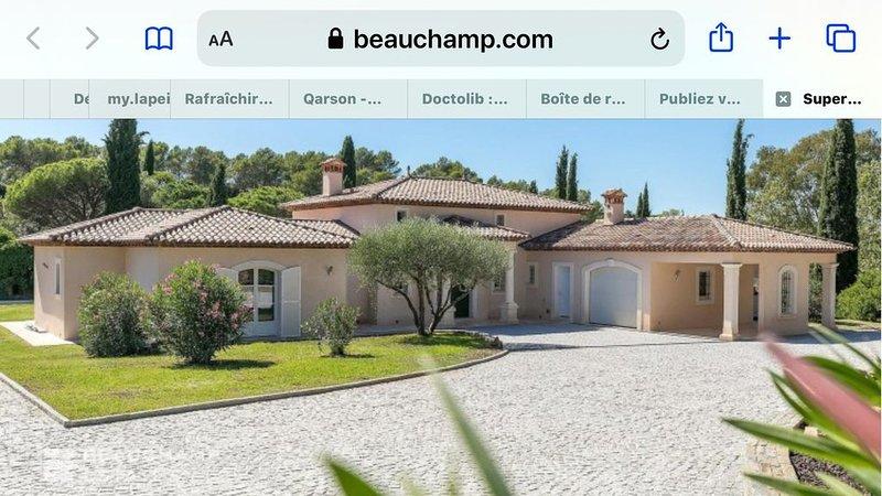 Villa dans domaine privé et sécurisé, holiday rental in Puget-sur-Argens