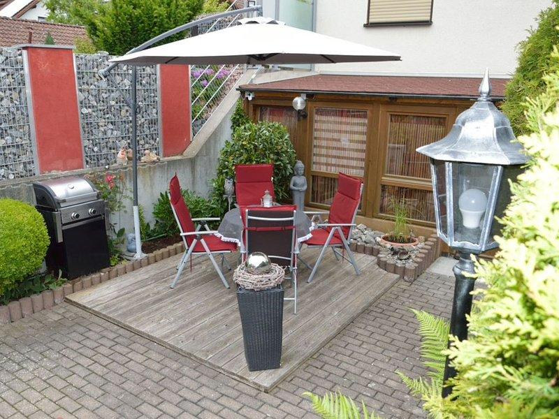 Ferienwohnung 55 qm, 1 Schlafzimmer, max. 4 Personen-Terrasse mit Grill