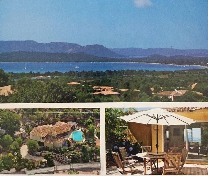 villa  4 étoiles, piscine privée avec vue mer et montagne, calme et confort, holiday rental in Sainte Lucie De Porto Vecchio