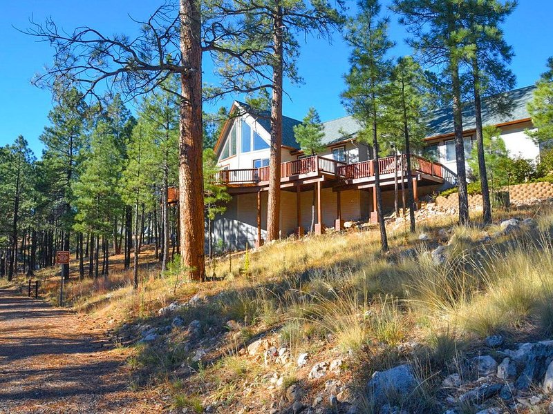 Holland Home - Luxury home w/ Forest Views, AC & Hot Tub!, vacation rental in Flagstaff