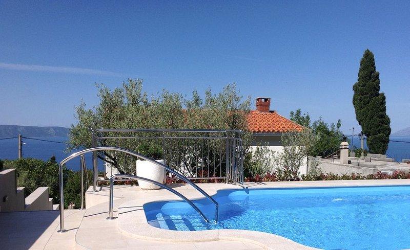 Hideaway villa,amazing island & mountain views,private heated pool,pets welcome, alquiler de vacaciones en Podgora