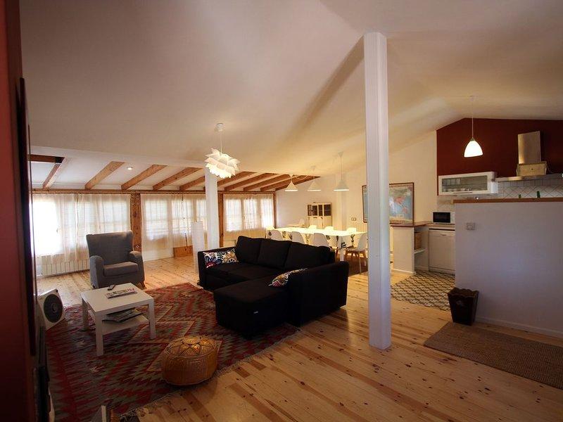 Casa grande con tres habitaciones, cocina completamente equipada y con  jardín, holiday rental in Ausejo