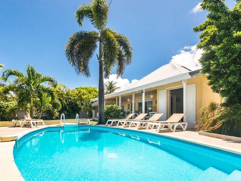 Amarante, villa 8/10 Pers, vue mer, piscine sécurisée, plage accessible à pied, location de vacances à Sainte-Anne