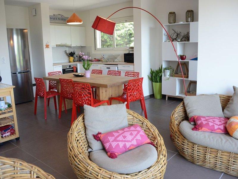3mn de la mer, terrasse 20m² vue Canigou, climatisé, lumineux et moderne, alquiler de vacaciones en Aude