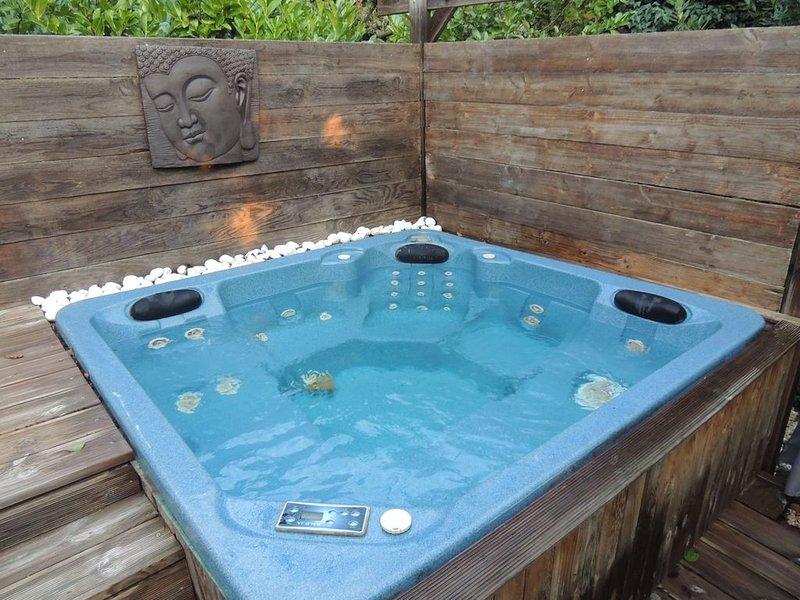 Meublé T3, climatisé, piscine chauffée et jacuzzi, location de vacances à Saint-Maurice-sur-Eygues